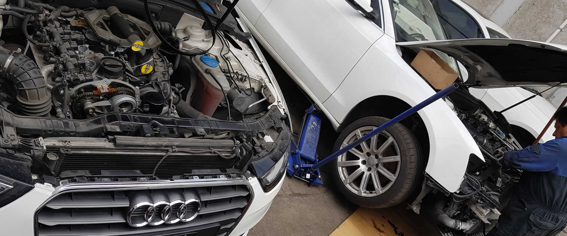 Trabajos de mecánica de AUDI