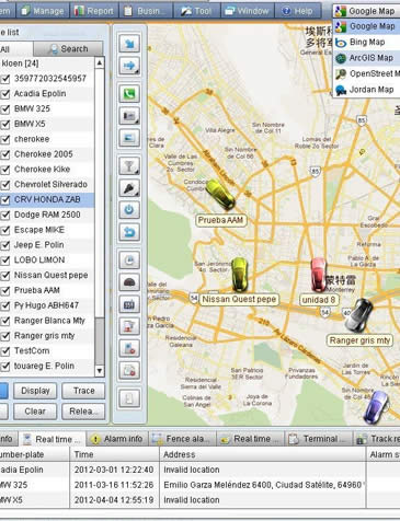 Plataforma web de Rastreo Satelital GPS